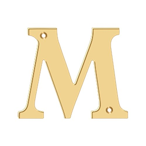 (4 in. Solid Brass Residential Letter (Set of 10) (M - PVD))