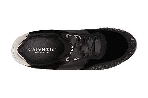 Con Sneaker Nero Running Fiori Patch Cafènoir Dc913 Donna dXzqzU8