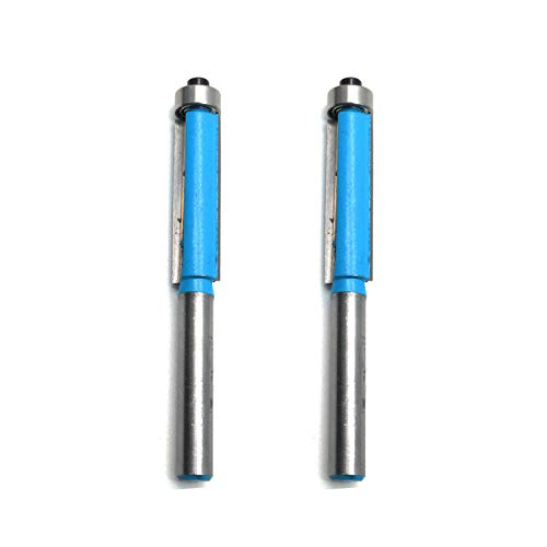 Rannb Flush Trim Router Bit 2-Flute Bearing Flush Trim Bit 1/4