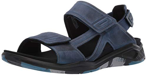 ECCO Men's X-Trinsic Sandal True Navy Leather 8-8.5 M US