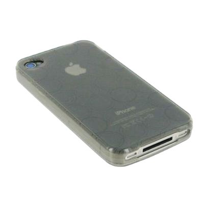 TPU Case for iPhone 4 Circle Design (Smoke)