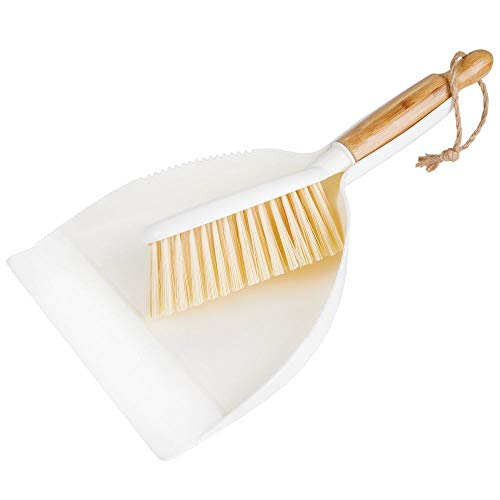 mDesign Hand Held Dustpan and Brush Set