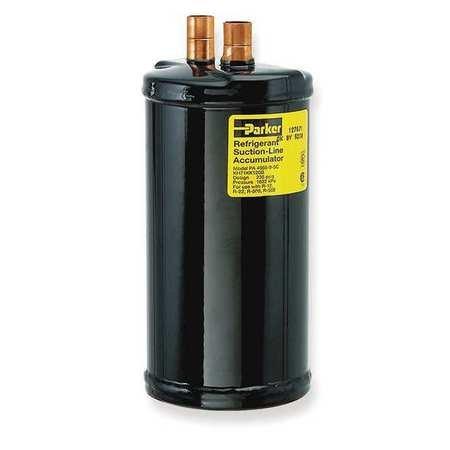 Suction Line Accumulator, Dia 5 x H 9 In - Suction Line Accumulator
