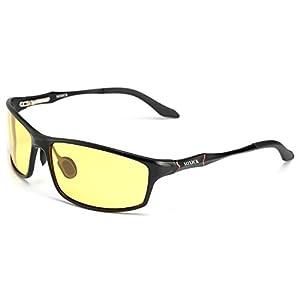 Polarized Night Driving Glasses Anti Glare Safety HD Night Vision Sunglasses