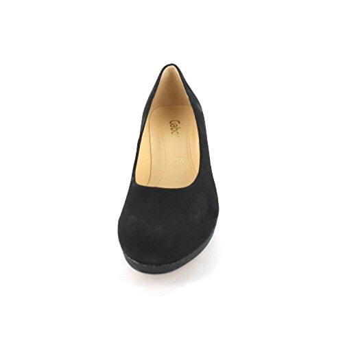 Señoras de las bombas 36 37 38 39 40 38,5 37,5 Zapatos de las mujeres negras Gabor 61.260.37 negro
