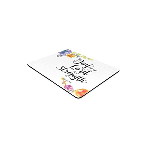 InterestPrint Religious Christian Bible Verse Joy of The Lord Rectangle Non-Slip Rubber Mousepad Mouse Pads/Mouse Mats Case Cover for Office Home Woman Man Employee Boss Work by InterestPrint (Image #2)