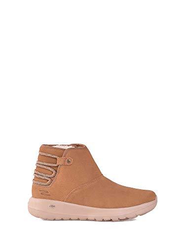 The Go Ocra Skechers Botas Cuero Zapatos Joy De Mujer 15502 On Eq55v