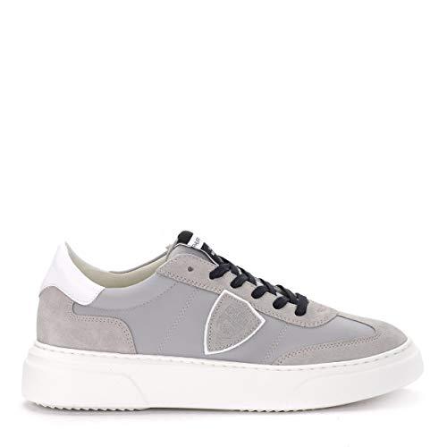Model Grigio Tessuto Suede Philippe E Sneaker Temple In vd00Hxq8