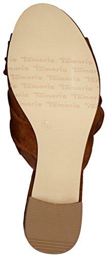 Tamaris 1-1-27219-38/001 - Zuecos de Lona para mujer terra