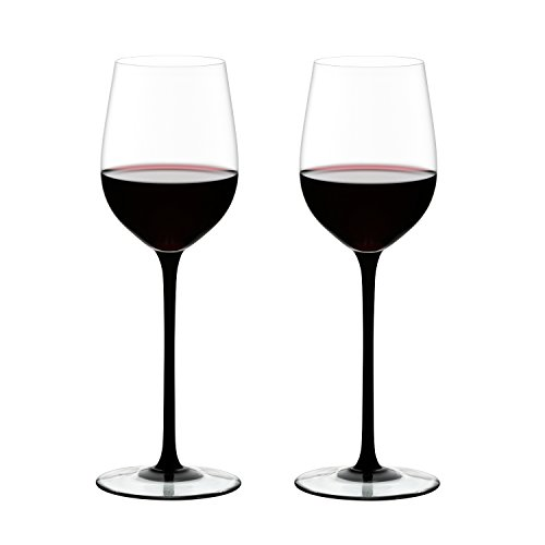 Riedel Sommeliers Black Tie Leaded Crystal Mature Bordeaux Wine Glass, Set of 2