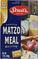 Streits Unsalted Matzo Meal, 12 Ounce - 18 per case.