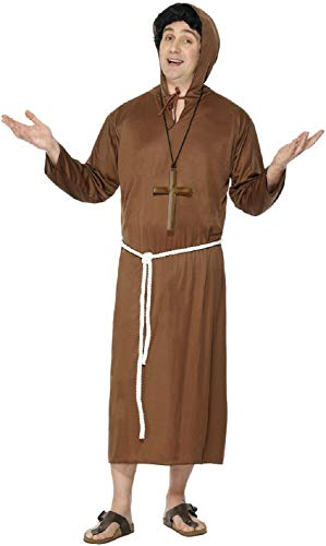 Friar Tuck Costumes - Mens Classic Brown Medieval Monk Friar