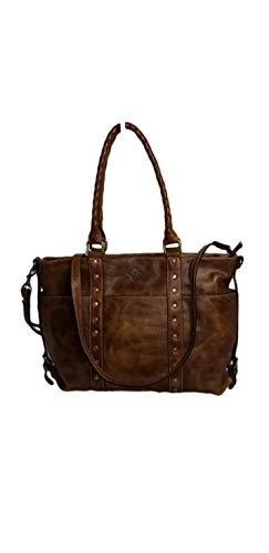 Patricia Nash Carducci Distressed Vintage Leather Pocket Tote