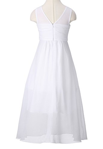 Kleid Mädchen A Linie ROSE HAPPY Weiß IqFwRn