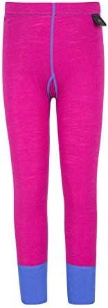 Mountain Warehouse Merino Kids Leggings -Girls Winter Baselayer Pants
