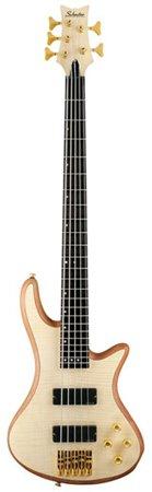 Schecter Stiletto Custom-5 Electric Bass (5 String, Natural - 5 Bass Custom