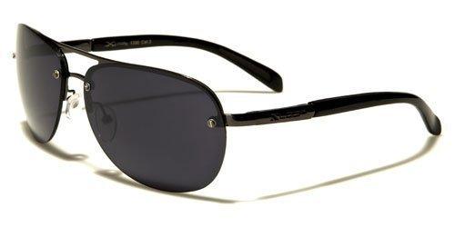 X-Loop Metall Pilotenbrille Unisex Damen Herren Aviator Sport Sonnenbrille mit flexiblen Federscharnier Kunststoffbügel spGnCFmxl