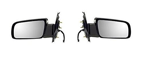 00 - 05 Chevrolet Astro GMC Safari Door Mirror Power Smooth Black Pair Set Both Driver and Passenger NEW 15757375 15757376 GM1320232 GM1321232 (Black Power Mirror Van Safari)