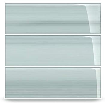 Vesper Light Blue Off White Glass Subway Tile for Kitchen ...