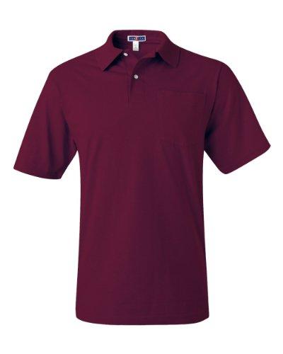 - Jerzees 5.6 oz. 50/50 Jersey Pocket Polo with SpotShield (436P) Maroon, M
