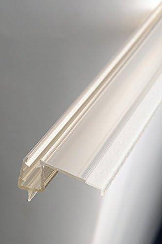 Sealis - Junta para cabina de ducha (100 cm, perfil de goteo, para puerta de ducha, transparente,