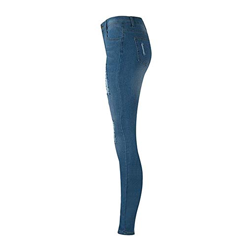 Da Strappati Classiche Denim Vintage Blu Stretch Jeans Skinny Pants Donna Pantaloni Ragazzi d5cHy