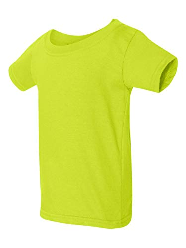 - Gildan Toddler Softstyle 45 oz T-Shirt - SAFETY GREEN - 6T - (Style # G645P - Original Label)