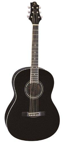 (Greg Bennett Design Gold rush ST91 BLK 39-Inch Folk Acoustic Guitar, Black)