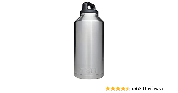 a4c98c7b3c1 Amazon.com: YETI Rambler 64oz Vacuum Insulated Stainless Steel Bottle with  Cap (Stainless Steel): Sports & Outdoors