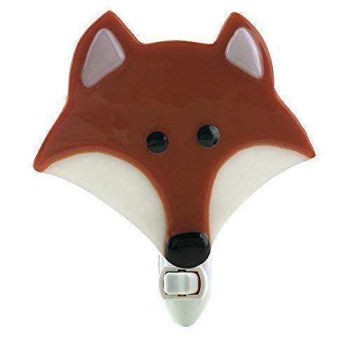 Fused Glass Fox Night Light