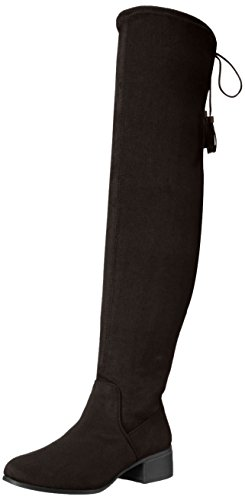 Madden Girl Women's Prissley Slouch Boot, Black Fabric, 8 M US