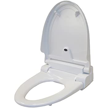 toilet seat. iTouchless Touch Free Sensor Controlled Automatic Toilet Seat  Elongated Model Off White Amazon com