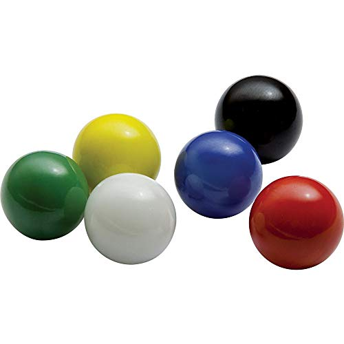 Marbles Mega Game Replacment 14mm -Solid Glass-60 Pieces - Chinese Checkers, Crafting (Multi) ()