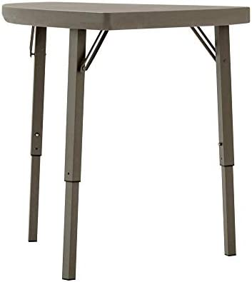 ZOWN Premium Commercial Corner Angle Blow Mold Banquet Folding Table, Brown, 2 Pack
