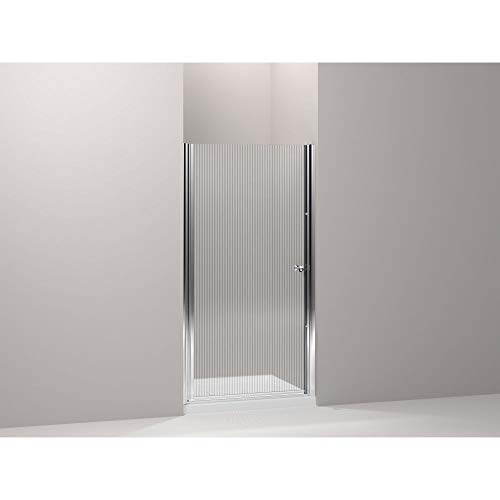 (Kohler K-702400-G54-SH Fluence Frameless Pivot Shower Door, Bright Silver)