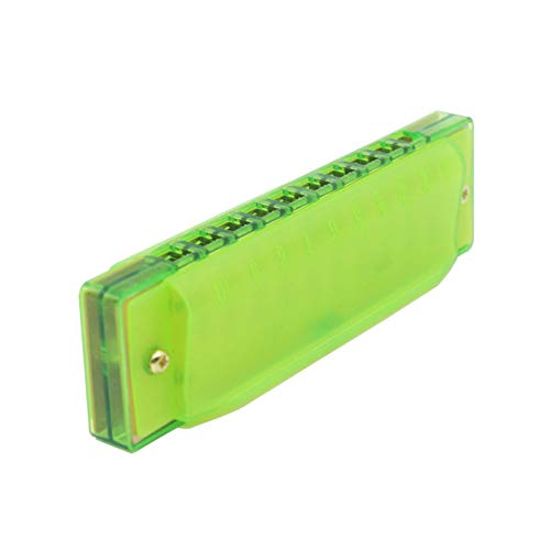 ETbotu Armónica de plástico con 10 Agujeros para niños Juguetes Musicales Regalo Instrumento Musical, Verde