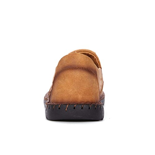 ZXCV Zapatos al aire libre Zapatos de primavera de los hombres retro casual zapatos de moda de los hombres de negocios casual zapatos de hilo vacío Golden2