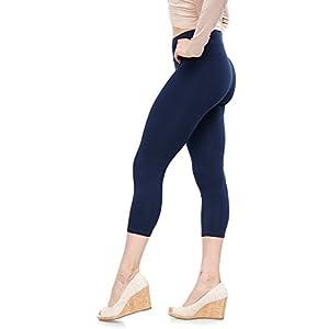 Malvina Lush Moda Soft Cotton Capri Leggings - Best Selling Colors - Navy Medium