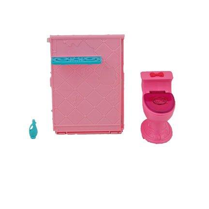Barbie Dream House Toilet, Shower Wall and Shampoo