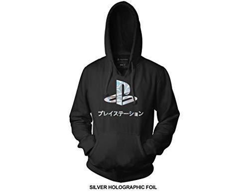 Ripple Junction Playstation Adult Unisex Logo Foil Pull Over Fleece Hoodie