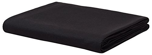 Calvin Klein Home Modern Cotton Harrison Queen Flat Sheet, Black ()