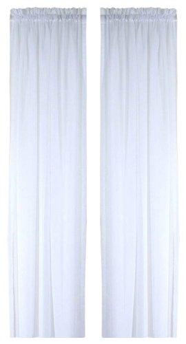 Curtains Ideas 54 inch long curtain panels : Amazon.com: Ricardo Oyster Bay Sheer Voile Curtain Panel, 45-Inch ...