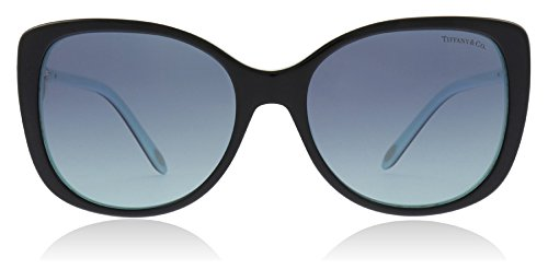 Tiffany TF4129 80559S Black/Blue TF4129 Rectangle Sunglasses Size 56mm (Sunglasses Tiffany)