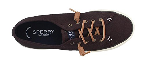 Casual View Pier Dark Shoe Canvas Brown Women's Sider Sperry Top Rq4IYY