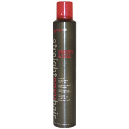 Straight Sexy Hair Smooth & Seal Spray by Sexy Hair for Unisex - 8.1 Ounce Hairspray