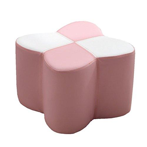 - WZ Ottomans Footstool Upholstered Ottoman PU Luxury Pouffe Change Shoe Stool Butterfly Shape Living Room Bedroom (Color : Pink, Size : 30cmx30cmx20cm)