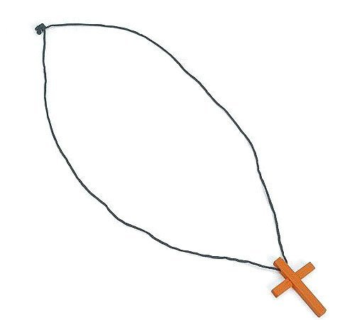 (Wooden Cross Necklaces (1 dz))