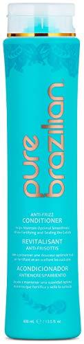 PURE BRAZILIAN Anti-Frizz Daily Conditioner, 13.5 Oz (Brazilian Shampoo Pure)