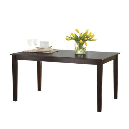 Better Homes and Gardens Bankston Rectangle 6-Person Dining Table, 58.5'' L x 35.5'' W x 30'' H (Espresso) (Espresso)