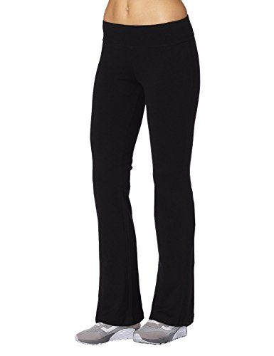 Aenlley Womens Workout BootLeg Athletica Yoga Pants Spanx Gym Fitness Activewear Color Black Size S - Adult Wide Leg